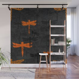 Dragonflies fly together Wall Mural