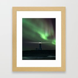 When the northern light appears Framed Art Print