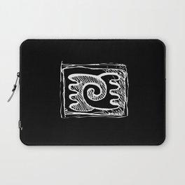 Sheeps, Yin&Yang, line art, sketch, single object Laptop Sleeve