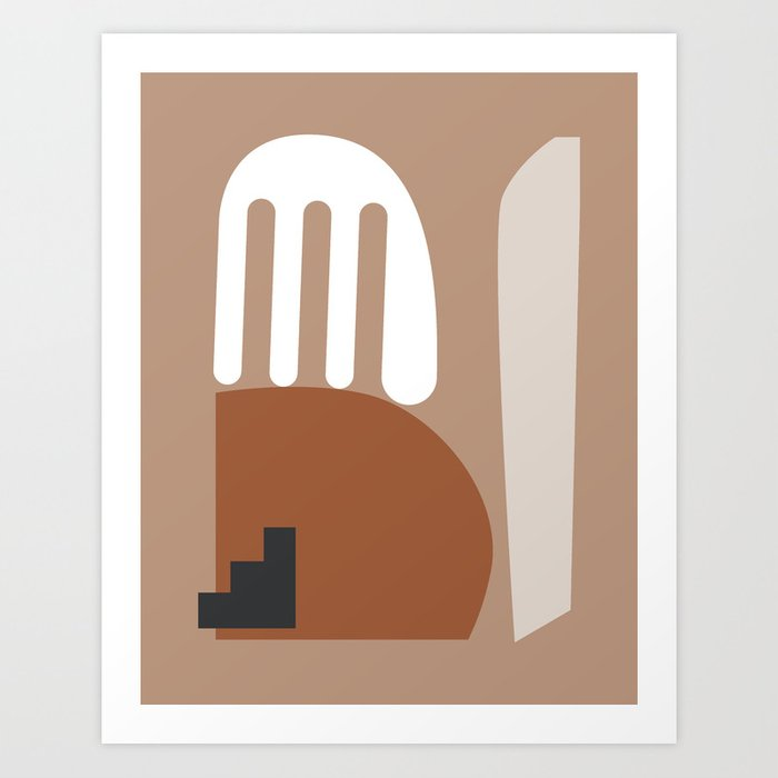 Shape study #10 - Stackable Collection Art Print