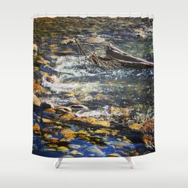 Crystal Clear Pedernales Shower Curtain