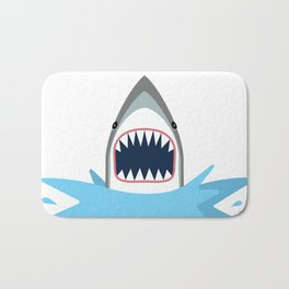 Cartoon Shark Splash Bath Mat