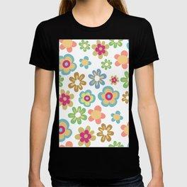 Retro 60s Hippie Flowers T-shirt