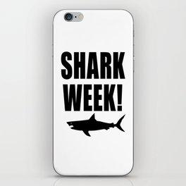 Shark week (on white) iPhone Skin