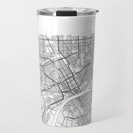 DETROIT MAP PRINT Travel Mug