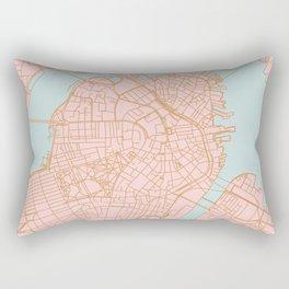 Boston map Rectangular Pillow