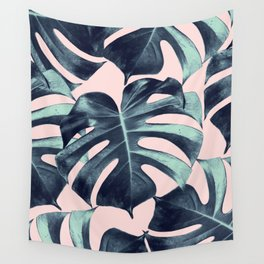 Tropical Monstera Leaves Dream #3 #tropical #decor #art #society6 Wall Tapestry