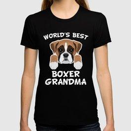 819474e3 World's Best Boxer Grandma T-shirt