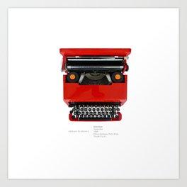 Olivetti Valentine typewriter Art Print