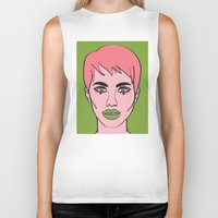 mod Biker Tanks featuring Mod by Grace Teaney Art