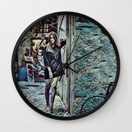 Un Petit Village Français Wall Clock