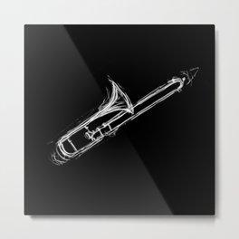 Trombone Metal Print