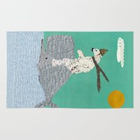 sailing Area & Throw Rugs featuring sailing by bri.buckley