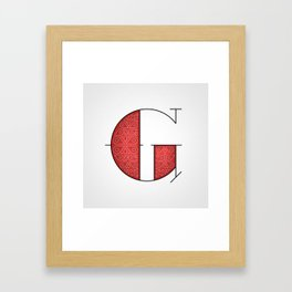 The Letter G Framed Art Print