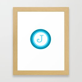 Blue letter J Framed Art Print