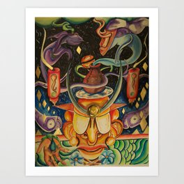 The Mask of Rolling Love Art Print