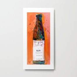 Maine Lunch IPA beer bottle Metal Print