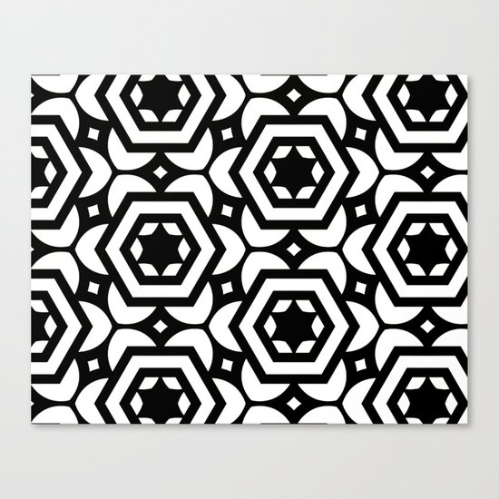 Vogelaar Black & White Pattern Canvas Print