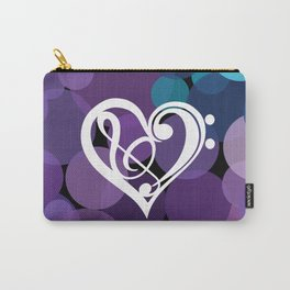 Musical Heart Note Carry-All Pouch