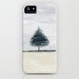 Lone tree in desert iPhone Case