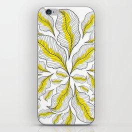 yellow---line iPhone Skin