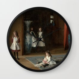 The Daughters of Edward Darley Boit by John Singer Sargent (1882) Wall Clock
