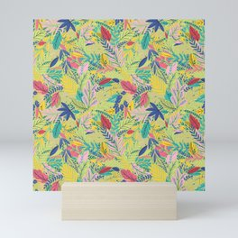 Fruit Tea Florals - Kiwi Mini Art Print