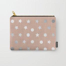 Silver Confetti Carry-All Pouch