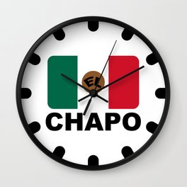 El Chapo Mexican flag Wall Clock