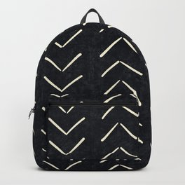 Mudcloth Big Arrows in Black and White Backpack
