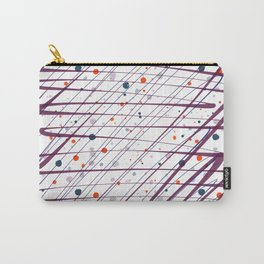 Maroon Splatter Pattern Carry-All Pouch
