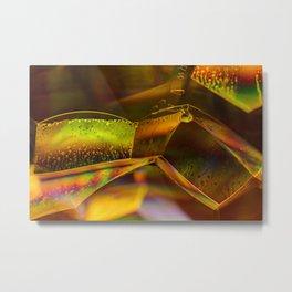 Iridescent Bubbles Metal Print