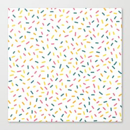 Colorful Party Sprinkles Canvas Print