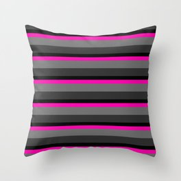 Beautiful neon stripe Throw Pillow
