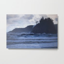 Storm Waves at Trinidad Beach Metal Print