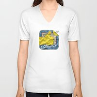 donuts V-neck T-shirts featuring Donuts by Likie