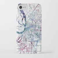 memphis iPhone & iPod Cases featuring Memphis map by MapMapMaps.Watercolors