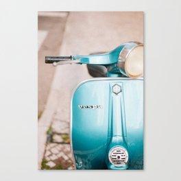 Blue Vespa Canvas Print