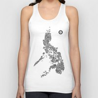 philippines Tank Tops featuring Paranormal Philippines (white) by Rev Cruz