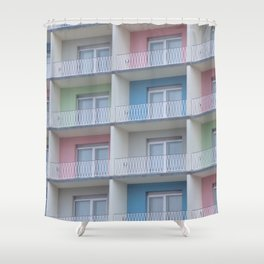hotels motels hotels Shower Curtain