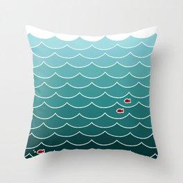 Deep Ocean Fish Throw Pillow