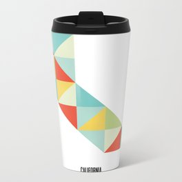Geometric California Metal Travel Mug