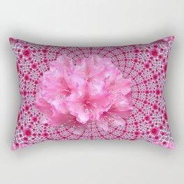 FUCHSIA OPTICAL PINK FLORAL PATTERN Rectangular Pillow