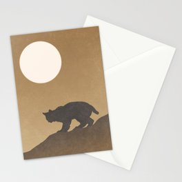 Bobcat Sunset Desert Landscape Stationery Cards