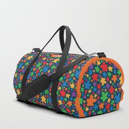 Funky Meeple Pattern Duffle Bag