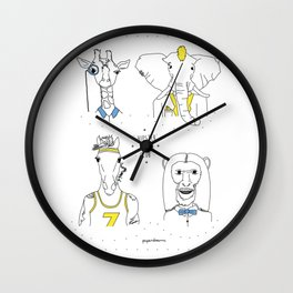 Hipster Boys Club Wall Clock