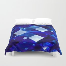 Blue Sapphire September Birthstone Gem Duvet Cover
