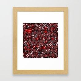 Red dice Framed Art Print