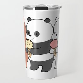 Baby Bears Eating Some Ice Cream Travel Mug