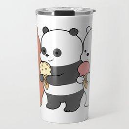 Baby Bears Eating Some Ice Cream Travel Mug